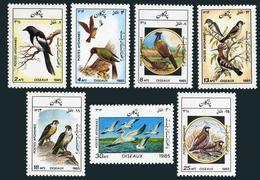 Afghanistan 1158-1164,1165,MNH.Michel 1445-1451,Bl.79. Birds 1985.Parakeets. - Afghanistan