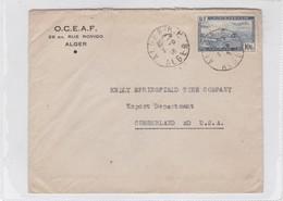 OCEAF. CIRCULEE ALGERIA TO USA. OBLITERE ALGER 1946-BLEUP - Algeria (1924-1962)