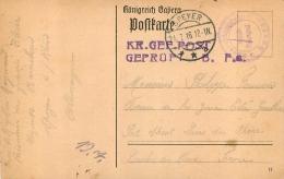 LAZARETT BARACKEN SPEYER 1916 GEPRUPT - Guerra 1914-18