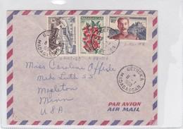 ENVELOPE CIRCULEE PAR AVION MADAGASCAR TO USA. OBLITERE BETROKA 1958-BLEUP - Lettres & Documents