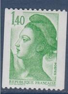 = Type Liberté De Delacroix  1.40f  Vert  Roulette Neuf N° 2191 Gommé - Rollo De Sellos