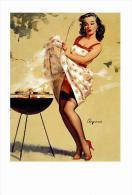 Pin Ups Of GIL ELVGREN Postcard RPPC - (129) Smoke Screen, 1958 - Size 15x10 Cm.aprox. - Pin-Ups