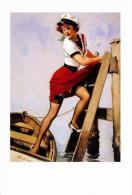 Pin Ups Of GIL ELVGREN Postcard RPPC - (82) Sailor Beware, 1952 - Size 15x10 Cm.aprox. - Pin-Ups