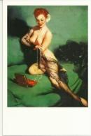 Pin Ups Of GIL ELVGREN Postcard RPPC - (78) Fascination, 1952 - Size 15x10 Cm.aprox. - Pin-Ups