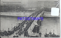 100298 ROYALTY FRANCE THE SOVEREIGNS ON THE CONCORDDE BRIDGE POSTAL POSTCARD - Familles Royales