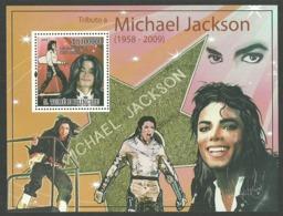 ST THOMAS AND PRINCE 2009 POP ROCK MUSIC MICHAEL JACKSON M/SHEET MNH - Sao Tome And Principe