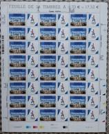 = Paris Jeux Olympiques 2024 Venez Partager Surchargé 13/09/2017 LIMA 0.73€ X24 + Vignette Logo Tour Eiffel Stylisée - Feuilles Complètes