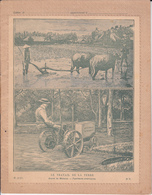 VP-GF.18-539 : CAHIER LE TRAVAIL ET LA TERRE.  ARAIRE DE MALACCA. FAUCHEUSE AMERICAINE MC CORMICK. TRACTEUR. - Farm