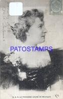 100313 ROYALTY PRINCESS LOUISE OF BELGIUM CIRCULATED TO URUGUAY POSTAL POSTCARD - Familles Royales