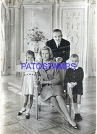 100314 ROYALTY PRINCE RAINIER III PRINCESS GRACE & PRINCE ALBERT OF MONACO CIRCULATED TO BRAZIL POSTAL POSTCARD - Familles Royales