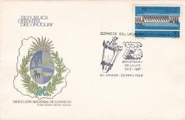 ANIVERSARIO DE LA UTE 1912-1987 CENTRAL HIROELECTRICA CONSTITUCION. FDC OBLITERE 1988, URUGUAY-BLEUP - Uruguay