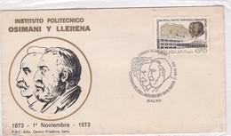 INSTITUTO POLITECNICO OSIMANI Y LLERENA 1873-1973. FDC OBLITERE SALTO 1973, URUGUAY-BLEUP - Uruguay