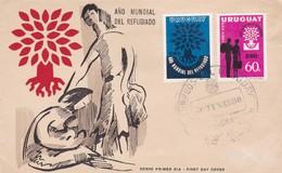 AÑO MUNDIAL DEL REFUGIADO. FDC OBLITERE 1960. URUGUAY -BLEUP - Uruguay