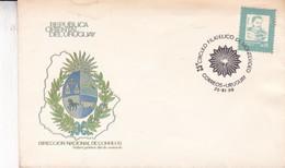 25° CIRCULO FILATELICO DE MONTEVIDEO. FDC OBLITERE 1988. URUGUAY -BLEUP - Uruguay