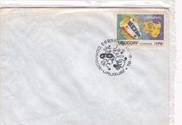 CARNAVAL. OBLITERE 1991. URUGUAY, SPECIAL COVER -BLEUP - Uruguay