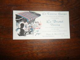 CV /  LA TAVERNE GEORGES  ET LE BRISTOL  DANCING / BLANKENBERGE - Cartes De Visite