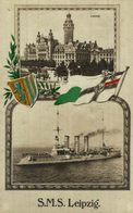 1916   MARINE FELDPOST  S M S   SMS  LEIPZIG - Guerre