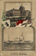 1916   MARINE FELDPOST  S M S   SMS  BERLIN - Krieg