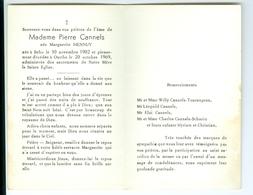 SM Marguerite Hennuy épouse PIerre Cannels Ourthe 1969 Avec Remerciements - Overlijden