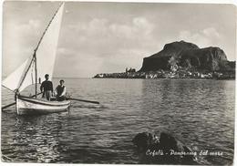 X4352 Cefalù (Palermo) - Panorama Dal Mare - Barche Boats Bateaux / Viaggiata 1954 - Italie