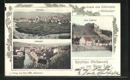 AK Dürrmenz, Blick Auf Ort, Ruine Löffelstelz Und Mühlacker - Mühlacker