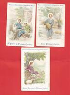 Image Religieuse - Lot De 3 Images -édition De La Chocolaterie D'Aiguebelle - Devotieprenten