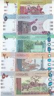 SUDAN 2 5 10 20 50 POUNDS 2015 P-71 72 73 74 75 UNC SET */* - Sudan