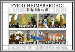 Z08 Faroe Islands 2018 End Of WW1 MNH ** Postfrisch - Färöer Inseln