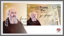 Z08 Malta 2018 Padre Pio FDC MNH ** Postfrisch - Malta (Orden Von)