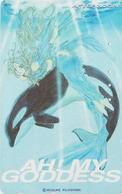 Télécarte Japon / 110-011 - MANGA - AH MY GODDESS ! By KOSUKE FUJISHIMA - ORQUE ORCA Japan Phonecard - AFTERNOON - 10609 - Dolphins