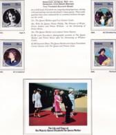 Samoa 1985 Queen Mother Sc 649-53 Mint Never Hinged - Samoa