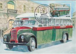Malta Maximum Card 36 Mi 1685 Buses - The End Of An Era - Thames ET7, Birkirkara - St.Julians - 2011 - Malta