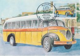 Malta Maximum Card 33 Mi 1682 Buses - The End Of An Era - Magirus Deutz, All Routes - 2011 - Malta