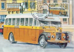 Malta Maximum Card 34 Mi 1683 Buses - The End Of An Era - Commer Q4 - Naxxar - 2011 - Malta