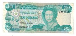 Bahamas 10 Dollars (1984) , VF. P-46a - Bahamas