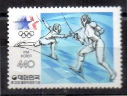 COREE DU SUD    N°  1241  * * ( Cote 3e)     Jo 1984   Escrime - Fencing