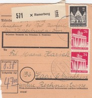 BiZone Paketkarte 1948: Ramerberg Nach Haar Bei München - Gemeinschaftsausgaben