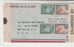 Curacao / Censorship / U.S. / Airmail - Curaçao, Antilles Neérlandaises, Aruba