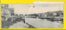 COGNAC Rare Carte Panoramique 11 X 28 Cm La Charente Au Pont Saint Jacques (NG) Charente (16) - Cognac