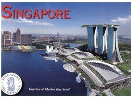 (386) Singapore Marina Bay & Stadium In Backdrop Near Water - Singapur