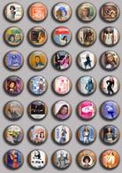 SHEILA Music Fan ART BADGE BUTTON PIN SET 8 (1inch/25mm Diameter) 35 DIFF - Musique