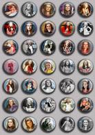 SHEILA Music Fan ART BADGE BUTTON PIN SET 9 (1inch/25mm Diameter) 35 DIFF - Musique