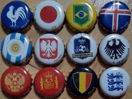 12 Gaffel Bier Kronkorken Fifa Football WM Cup 2018 Beer Bottle Crown Caps Set, Chapas Cerveza Tapon Corona Tappi Birra - Cerveza