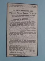 Pieter Frans DE VOS - Veearts ( Elisabeth CLOOTS ) Duffel 15 Juli 1886 - Keerbergen 29 Nov 1944 ( Zie Foto's ) Oorlog ! - Avvisi Di Necrologio