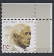 Bund 1984 Eckrand Rechts Oben Ernst Jünger 110 Pf Postfrisch - [7] République Fédérale