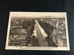 83 - PARIS L'Avenue Du Bois De Boulogne Vue De L'Arc De Triomphe - 1937 Timbrée - District 16