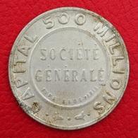 MONAIE Jeton De La Société Générale Et Timbre Poste 10c Semeuse - Monnaies