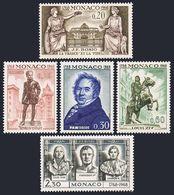 Monaco 704-708,MNH.Michel 908-912. Francois Joseph Bosio,1968.Napoleon Bonaparte. - Napoleon