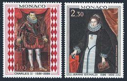 Monaco 710-711,MNH. Princes Of Monaco,1968.Charles II,Jeanne Grimaldi.Portraits. - Art