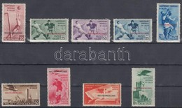 * 1934 Labdarúgó VB Mi 137-145 (137 Pici Elvékonyodás / Small Thin) - Briefmarken